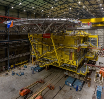 New milestone reached in the construction of the Deutsche Bucht substation