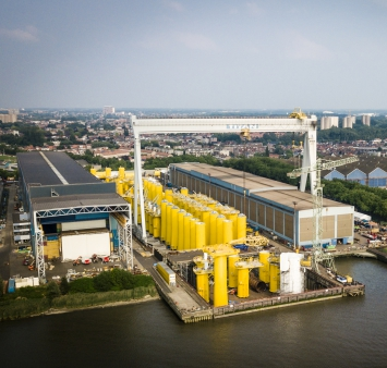 Consortium Sif-Smulders Provides Monopiles and Transition Pieces for first two phases of Dogger Bank Wind Farm